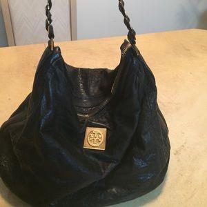Tory Burch black and gold handbag